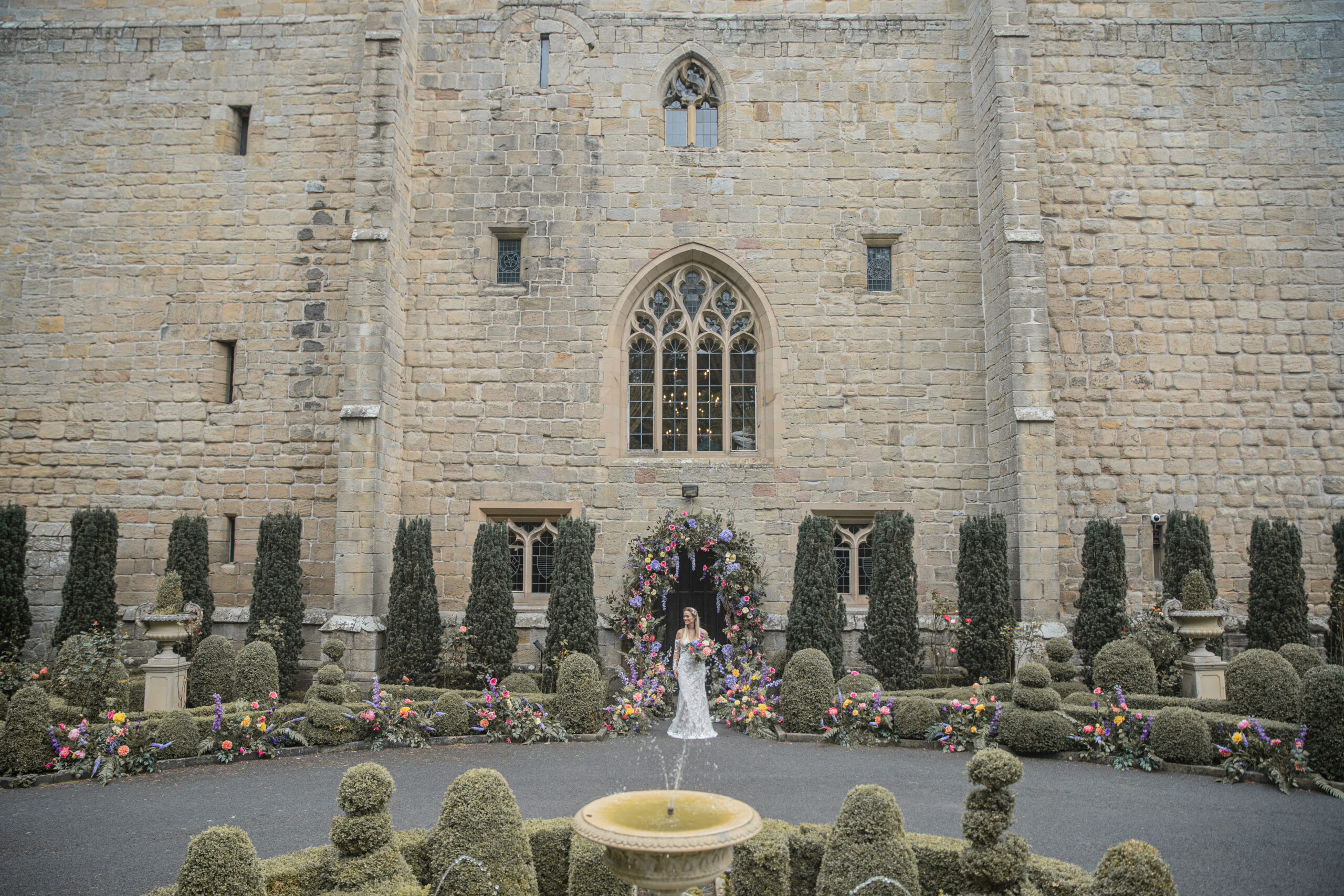 Styled Shoot: Kaleidoscopic Love at Langley Castle