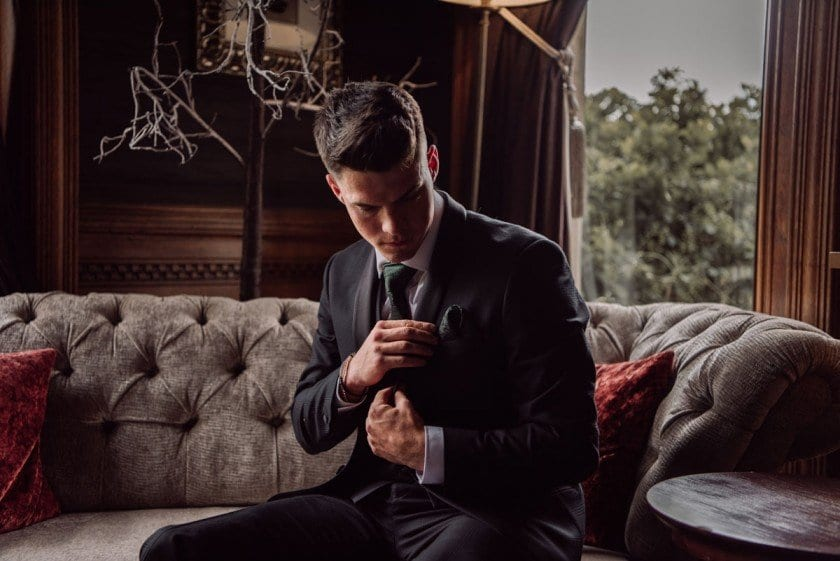 Groom's Dandy Threads Suit, Photographed by Emma Ryan Photography