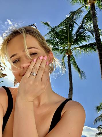 Tabitha Willet with Engagement Ring